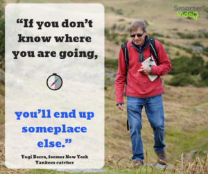 """If you don't know where you are going, you'll end up someplace else."""