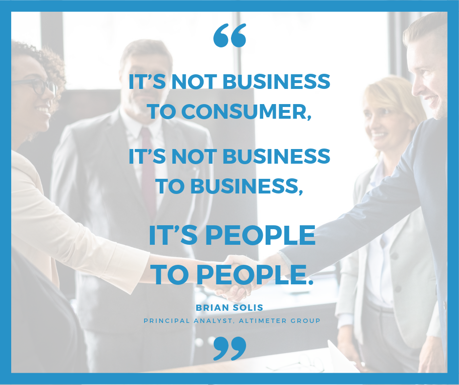 It's not business to consumer,it's not business to business,it's people to people.
