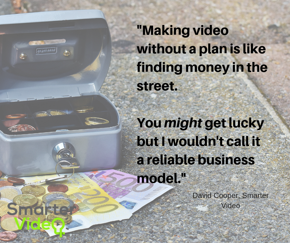 Making video with a plan is like finding money in the street