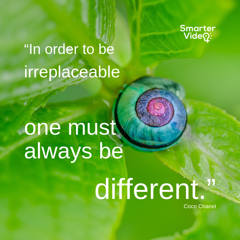 """In order to be irreplaceable one must always be different."""