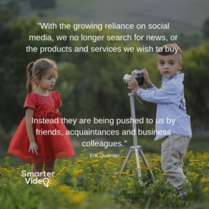 With the growing reliance on social media, we no longer search for news, or the products and services we wish to buy. Instead they are being pushed to us by friends, acquaintances and business colleagues